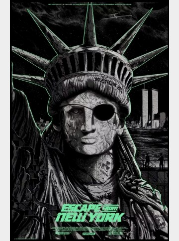 Escape From New York Screen Print